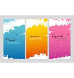 Color summer set with splash vector image