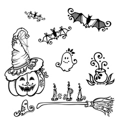 Halloween decorations vector image