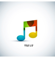 Music note colorful concept vector image
