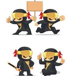 Ninja Customizable Mascot 6 vector image