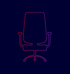 office chair sign line icon with gradient vector image