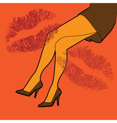 Sexy legs poster vector image vector image