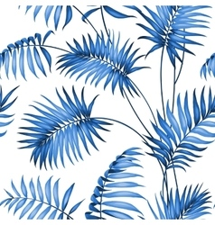 Topical palm leaves vector image