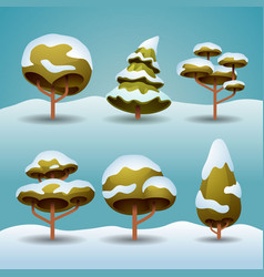 winter trees vector image vector image