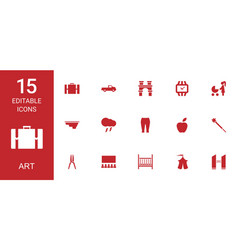 15 art icons vector