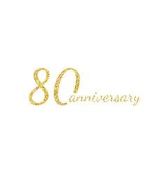 80 anniversary logo concept 80th years birthday vector image