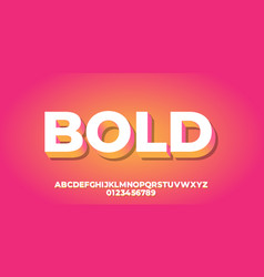 Abstract gradient orange with white 3d font style vector