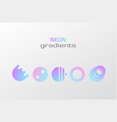 Abstract pastel gradient colors simple figure vector
