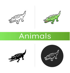 Alligator icon vector
