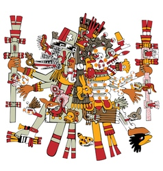 Ancient Aztec God vector image