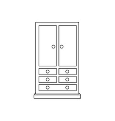 armoire wardrobe vector image