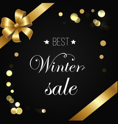 Best winter sale poster sparkling elements vector