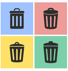 Bin icon set vector