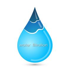 blue clean drop water symbol vector image