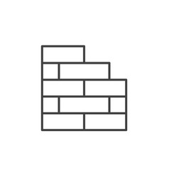 Brick wall concept outline icon or symbol vector