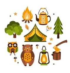 Camping Associated Symbols vector
