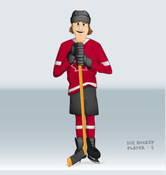 canadian ice hockey player vector image