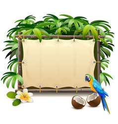 canvas tropics frame vector image