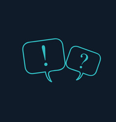 chat speech bubbles with question mark vector image