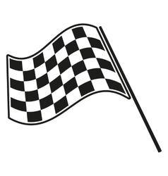 Checkered flag racing vector