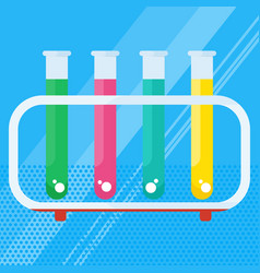 chemical laboratory test tube vector image