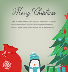 christmas greeting card with merry christmas vector image