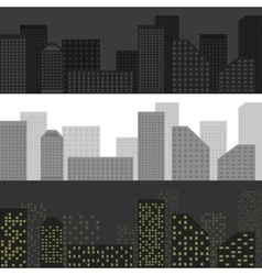 City skyline set vector