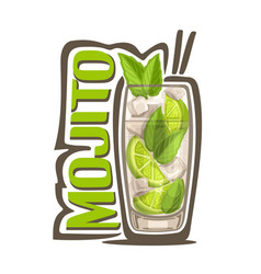 cocktail mojito vector image