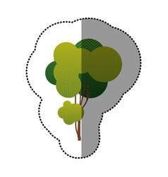 color sticker tree art icon vector image