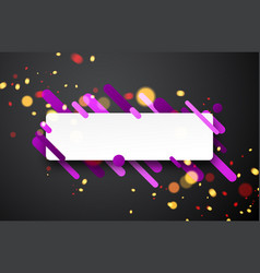 Colorful rectangular background on gray vector
