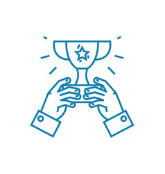 common achievement linear icon concept common vector image