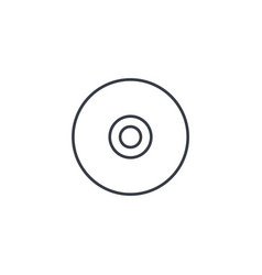 Compact disk cd thin line icon linear vector