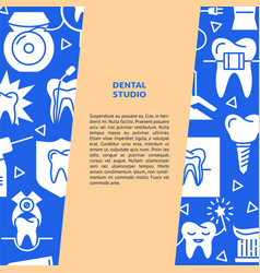 Dental studio banner template in flat style vector