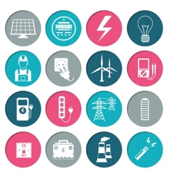 Electricity power icons set vector
