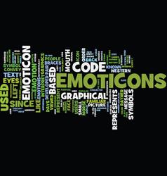Emoticon text background word cloud concept vector