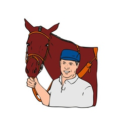 Equestrian Horse Retro vector