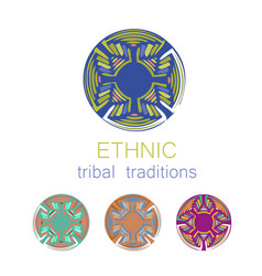 Ethnic collection templates vector