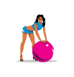 Fitness Girl Cartoon vector