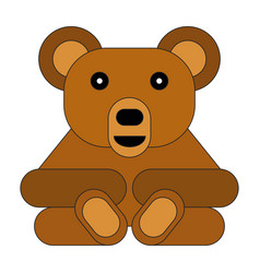 flat style cartoon bear vector image