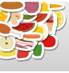 Food stickers vector