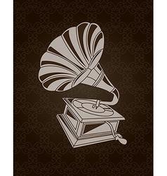 Gramophone design over black background vector