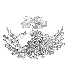 Graphic Christmas card vector