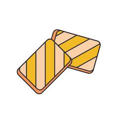 halloumi icon cartoon style vector image