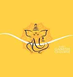 Happy ganesh chaturthi background design vector