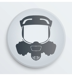 Head gas mask signs vector