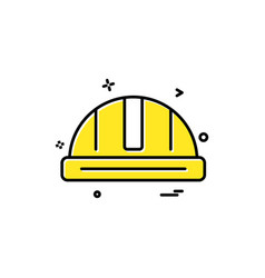 helmet labour icon design icon vector image