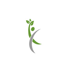 human eco nature logo vector image