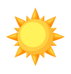Icon cartoon sun vector