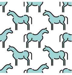 kids seamless pattern horse vector image