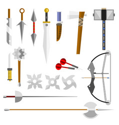 Knife weapon dangerous vector